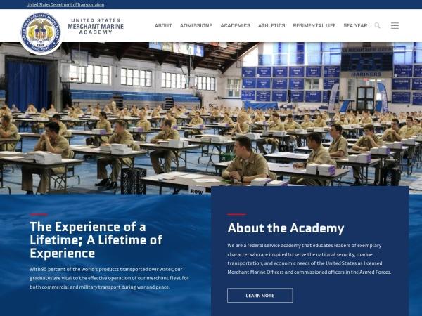 Screenshot of www.usmma.edu