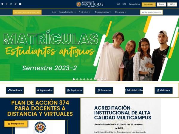 Captura de pantalla de www.ustamed.edu.co