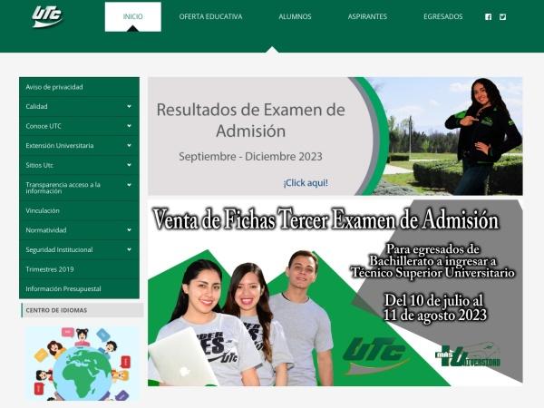 Screenshot of www.utc.edu.mx