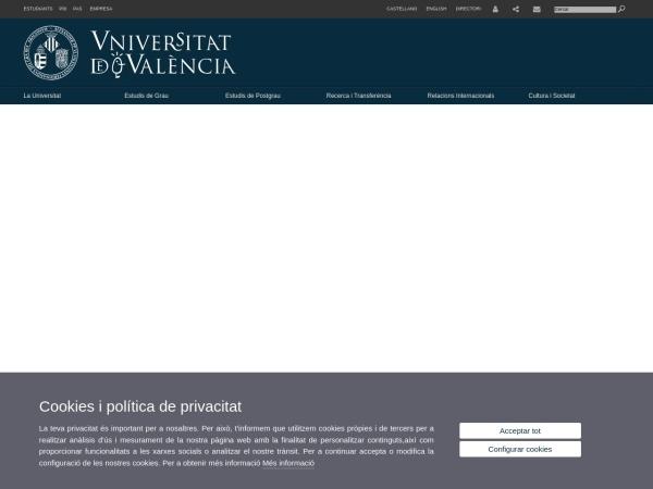 Screenshot of www.uv.es