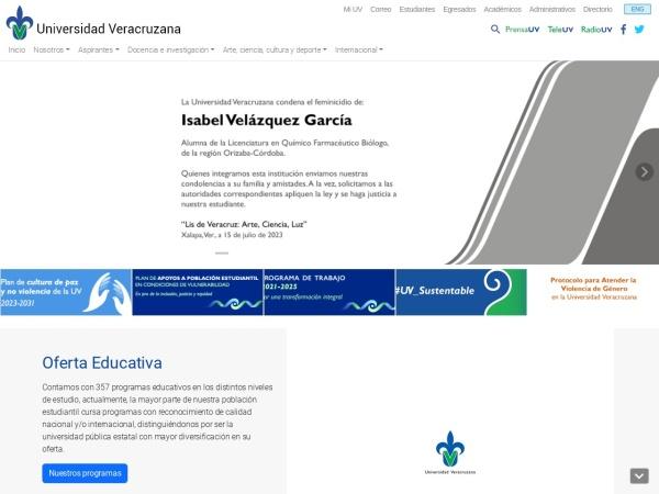 Screenshot of www.uv.mx