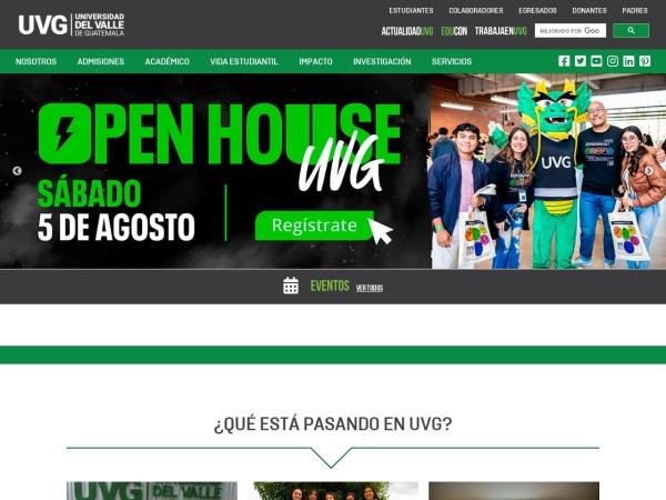 Screenshot of www.uvg.edu.gt