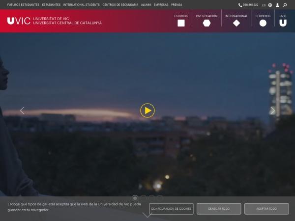 Screenshot of www.uvic.cat