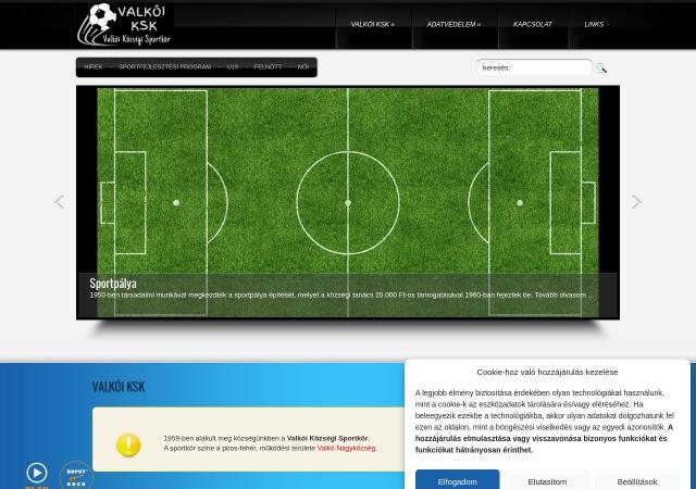 Screenshot of www.valkoi-ksk.tk