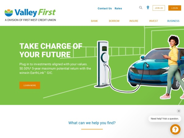 Screenshot of www.valleyfirst.com
