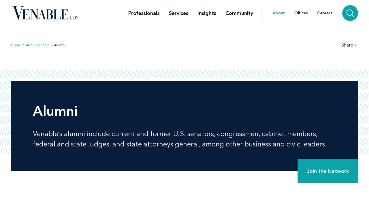 Screenshot of www.venable.com
