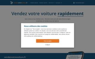 Screenshot of www.vendezvotrevoiture.fr