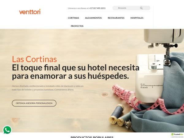 Captura de pantalla de www.venttori.com