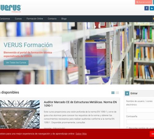 Captura de pantalla de www.verusformacion.com