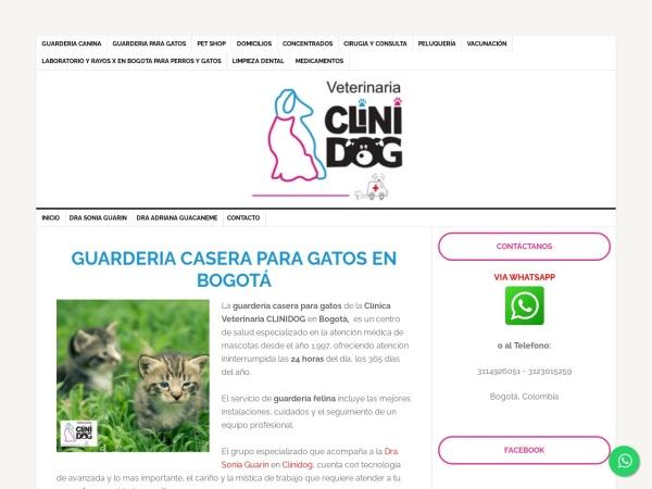Captura de pantalla de www.veterinariaclinidogenbogota.com