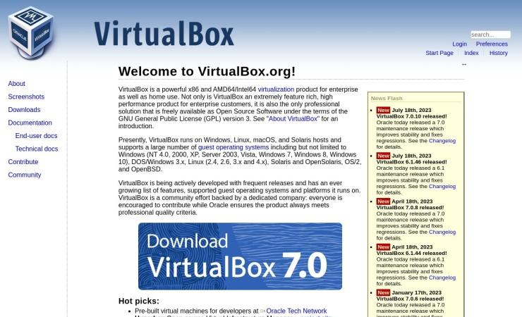 https://www.virtualbox.org/