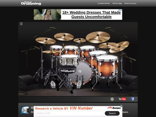 Screenshot of www.virtualdrumming.com