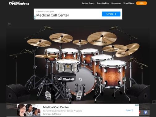 Screenshot of www.virtualdrumming.com