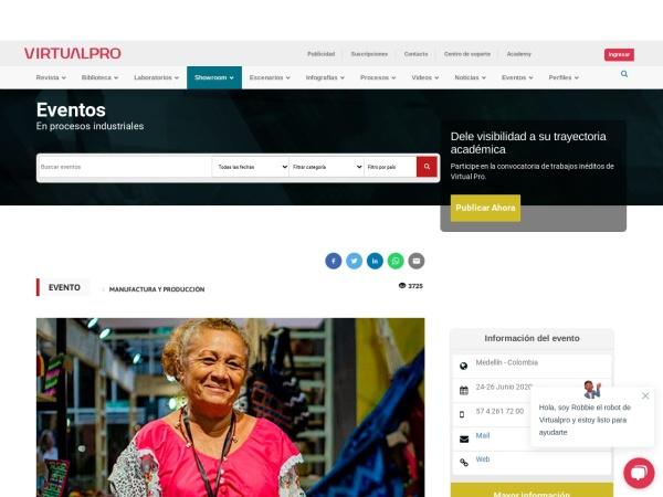Captura de pantalla de www.virtualpro.co