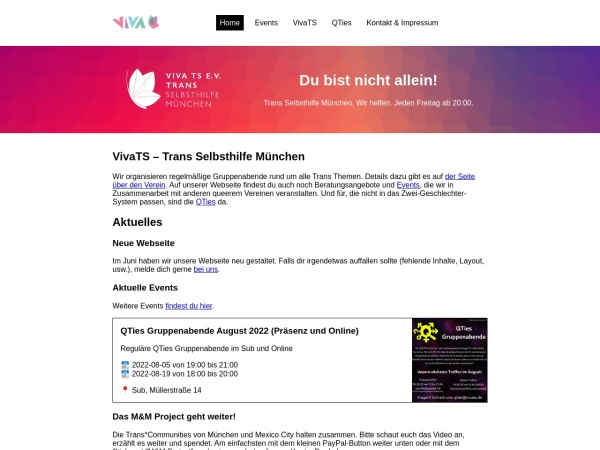 Screenshot of www.vivats.de