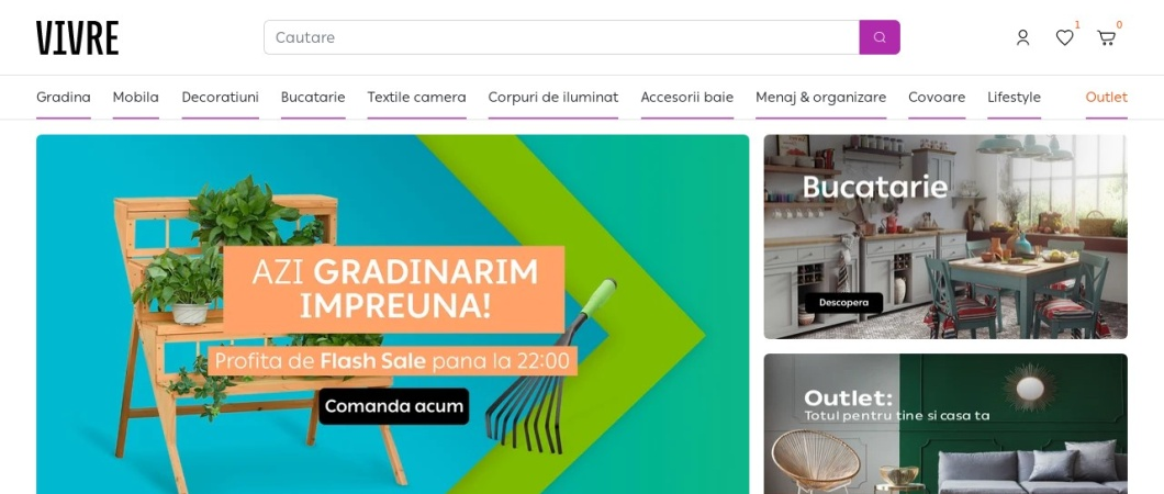 Screenshot of www.vivre.ro