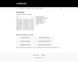 Screenshot of www.voidtools.com