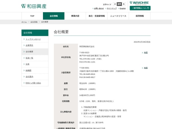 Screenshot of www.wadakohsan.info