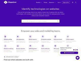 Screenshot of www.wappalyzer.com