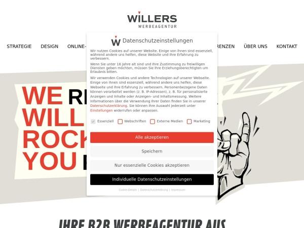 Screenshot of www.werbeagentur-willers.de