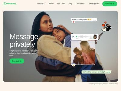 Screenshot of www.whatsapp.com