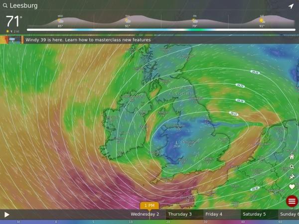 Screenshot of www.windy.com