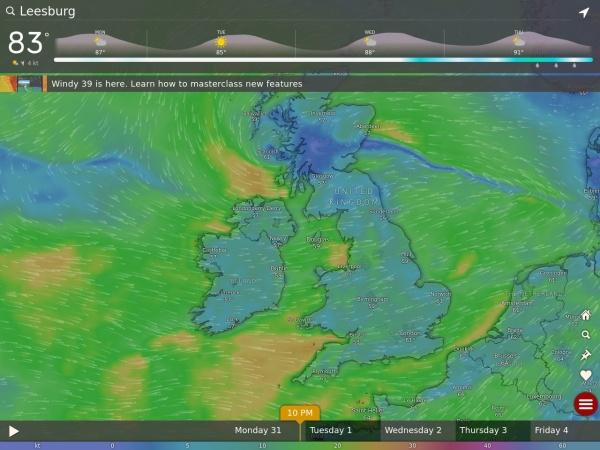 Screenshot of www.windyty.com