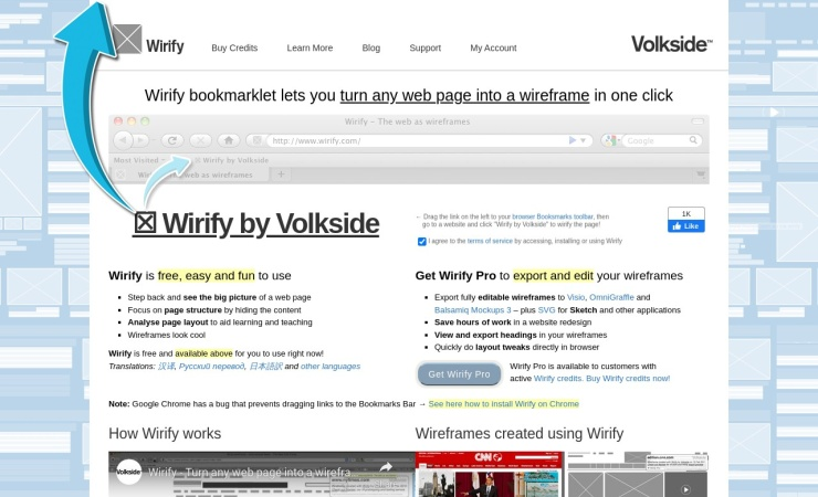 Screenshot of www.wirify.com