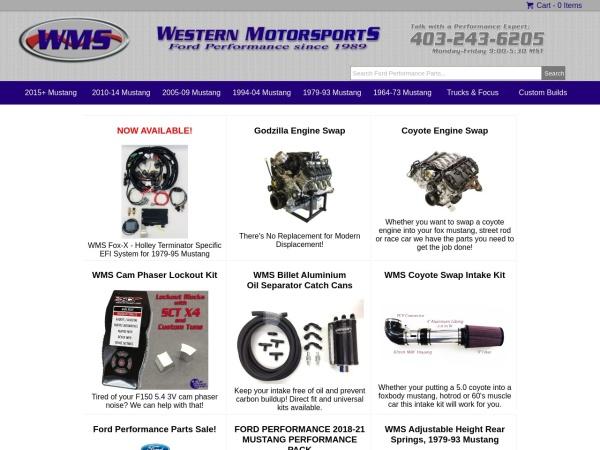 Screenshot of www.wmsracing.com