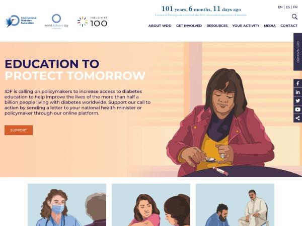 Screenshot of www.worlddiabetesday.org