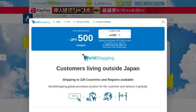 Screenshot of www.y-aoyama.jp