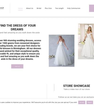 Screenshot of www.yourweddingshopboutique.co.uk
