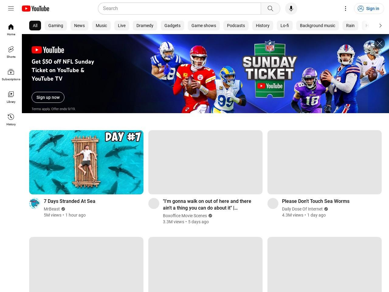 Captura de pantalla de www.youtube.com