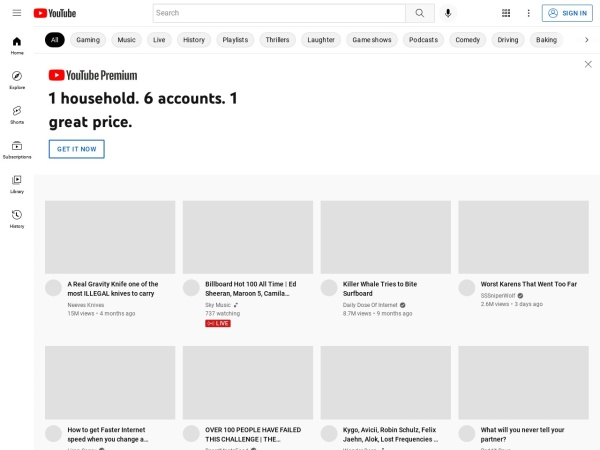 Suchmaschine YouTube.com