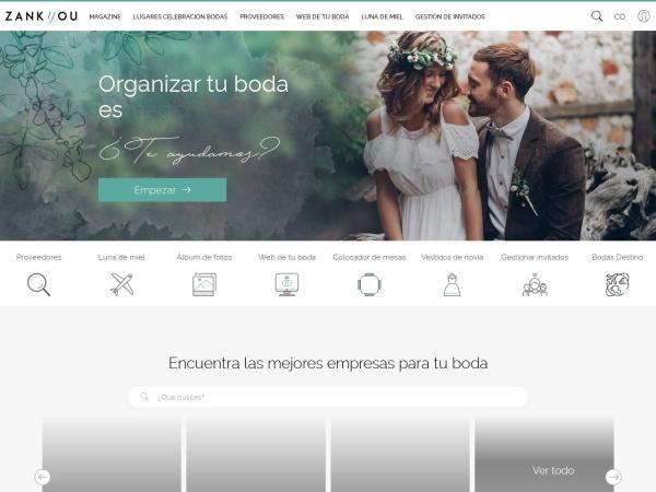 Captura de pantalla de www.zankyou.com.co