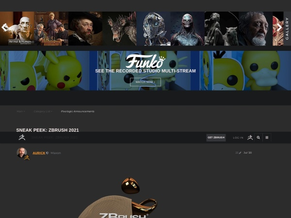 Screenshot of www.zbrushcentral.com