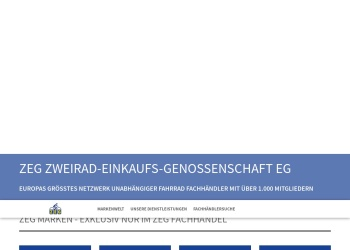 Screenshot of www.zeg.de