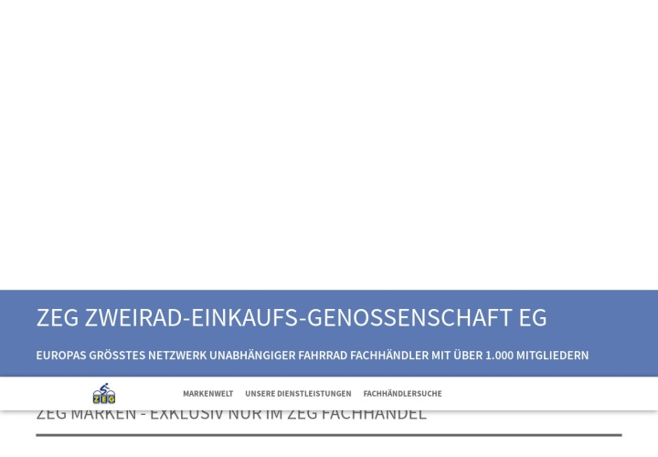 Screenshot von www.zeg.de