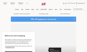 H&Mウェブサイトサムネイル