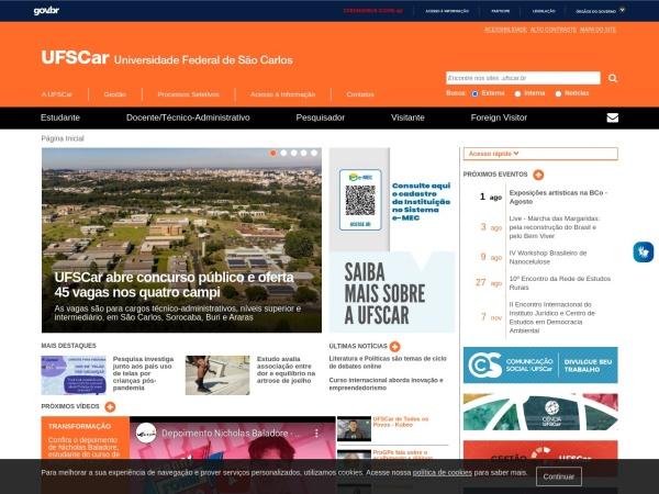 Screenshot of www2.ufscar.br