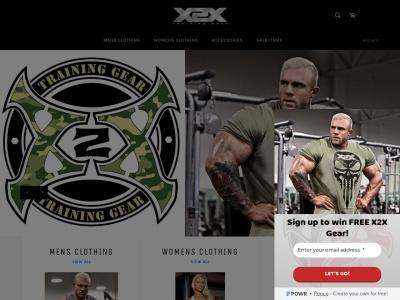 Screenshot of x2xclothing.com