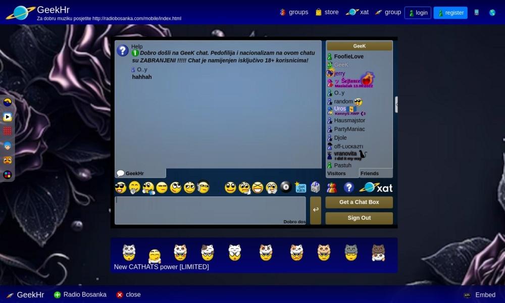Screenshot of xat.com