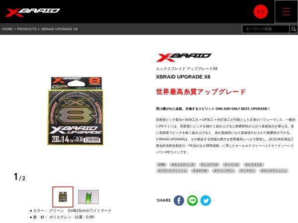 Screenshot of xbraidygk.jp