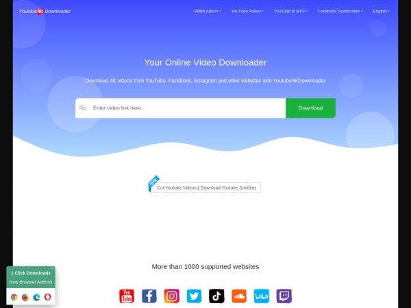 Screenshot of youtube4kdownloader.com