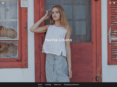 Screenshot of yuvitalinens.com