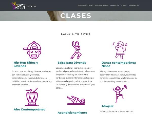 Captura de pantalla de zajanadanza.com