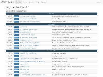 Screenshot of zippyreg.com