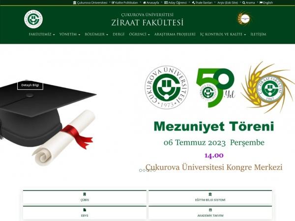 Screenshot of ziraat.cu.edu.tr