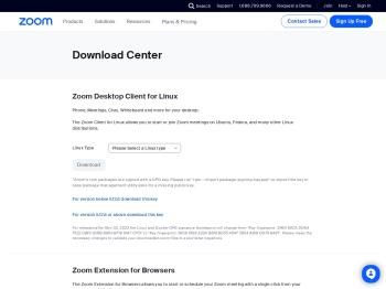 Download Center - Zoom