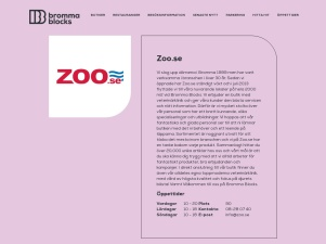 Zoo - Bromma Blocks - Köpcentrum Stockholm